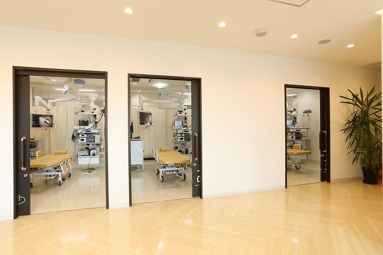 完全個室の3室の内視鏡室完備